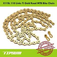 TIPSUM X11SL 118 Link Ti Gold Road MTB Bike Chain Shimano CAMPAGNOLO KMC SRAM