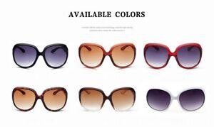 Oversize Women Sunglasses Red Brown Black White Leopard Glass Lens Cat Eyes UK