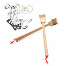 1x Bamboo Telescopic Back Scratcher Extendable Wooden Back Itching Self-Massager