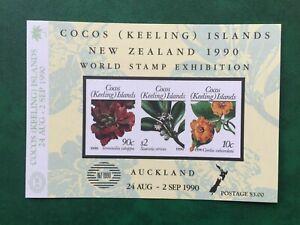COCOS (KEELING) ISLANDS 1990 International Stamp Exhib Miniature Sheet, MNH
