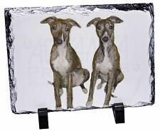 Whippet Dogs Photo Slate Christmas Gift Ornament, AD-WH91SL