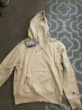 End. X Champion Reverse Weave Hoodie Tan. Sz Medium.