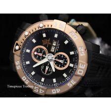 Invicta Sea Base Valjoux Rose Gold & Black ETA 7750 Automatic Titanium Men Watch