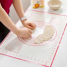 Gebäckmatte Teigmatte Teigunterlage Silikon Matte Rutschfeste Backmatte 50*70 cm