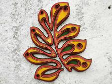 Abstract Floral art Design Handmade Wood Wall Decor Wooden Leaves Modern decor