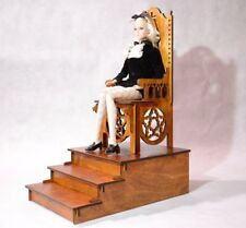 Gothic throne chair + podium 1/6 1:6 scale dollhouse furniture for IT FR etc 02