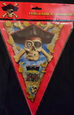 Pirate Flag Party Banner 12 Ft  Long Garland Triangular Bunting Skull & Cross