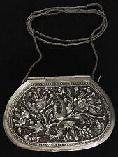 STUNNING SterlIng Silver Purse~Large filigree Bird Clutch Bag or Shoulder Purse