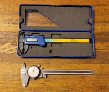 MACHINIST Tools PRECISION Vernier Caliper w/ Indicator Depth Gauge Lot PEACOCK ☆