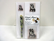 New Schnauzer List Pad Note Pad Magnet & Pen Stationery Gift Pack By Ruth MSH-2