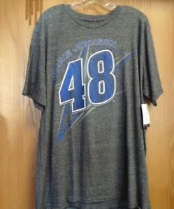 Jimmie Johnson #48  NASCAR T-Shirt NEW black/Grey NWT