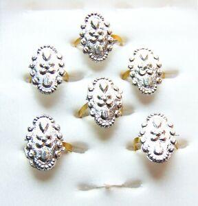 6 Pcs Toe Rings Indian Wedding Bichiya ADJUSTABLE Nickel Toe Ring Christmas Gift