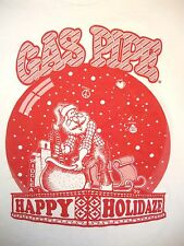 Gas Pipe Happy Holidaze Peace Love Smokes Christmas Santa Clause T Shirt S