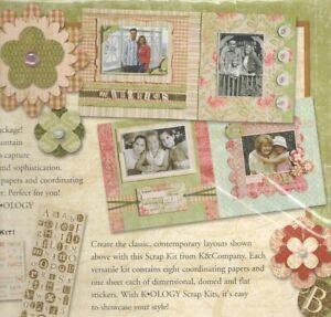 SCRAPBOOK KITS PAPER & EMBELLISHMENTS  K OLOGY  & MARCELLA  BY K
