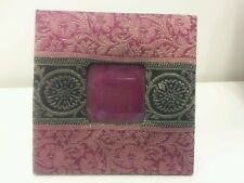 """Urban Outfitters Fabric Covered Picture Frame for 2.5"""" x 2.5"""" Photo"""