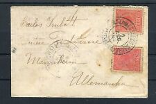 Brief Brasilien 100 Reis MeF nach Mannheim - b2661