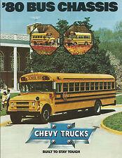 CHEVROLET'80 Châssis D'Autobus CHEVY Camions brochure 1979 bon état 3919