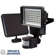 NEW SPEAR & JACKSON PIR MOTION SENSOR SOLAR POWER SECURITY LED WHITE LIGHTS