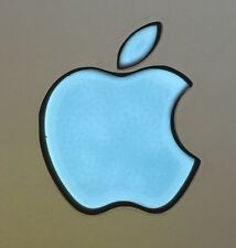GLOWING TURQUOISE APPLE MacBook Pro Air Laptop Mac Logo DECAL 11,12,13,15,17 in