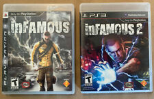 Infamous 1 & 2 For PS3 PlayStation 3 Game - Near Complete! Free Shipping!