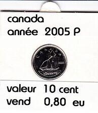 canada 10 cent  2005 P  voir description