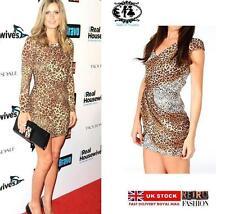 Viscose V-Neck Animal Print Sleeveless Dresses for Women
