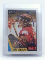 1987-1988 Mike Vernon #215 Calgary Flames OPC O-Pee-Chee Ice Hockey Card H631