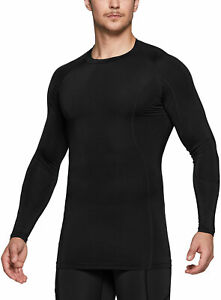 TSLA Men's Cool Dry Fit Long Sleeve Compression Shirts, Athletic Workout Shirt