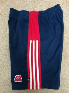 """Vintage Adidas early 1990's Blue & Red Shorts Size 30"""" - Very Rare Deadstock"""
