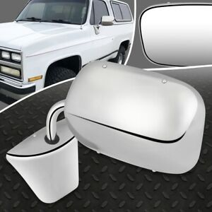 FOR 73-86 CHEVY C10 GMC C15 SUBURBAN OE STYLE MANUAL LEFT/RIGHT SIDE DOOR MIRROR