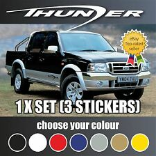 FORD RANGER PARTS SPARES THUNDER VINYL STICKERS DECALS FREE FAST POST COLOURS