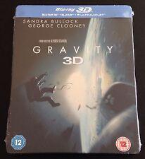 GRAVITY 3D & Blu-Ray SteelBook UK Exclusive 2-Disc Set Region Free. New OOP Rare