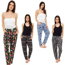 Ladies Cotton Viscose Harem Pants Elasticated Waist Summer Hareem , Size 10-18