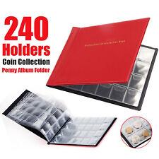 240 PIECES ALBUM CLASSEUR COINS NUMISMATIQUE COLLECTION COINS