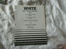 "White 42"" snow blade  operator's instruction manual and parts catalog"