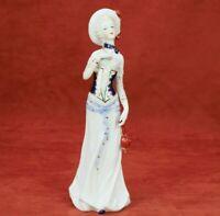 Lady Figurine Home Décor Antique Style Porcelain Mid-century Victorian Woman