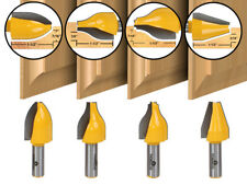 "4 Bit Vertical Raised Panel Router Bit Set - 1/2"" Shank - Yonico 12404"