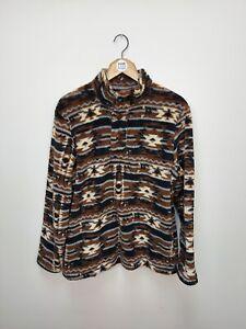 Crazy Pattern Cotton Traders Quarter Button Fleece - Medium - M