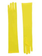 Adult Yellow Opera Super Hero Costume Formal Elbow Length Long Dress Gloves