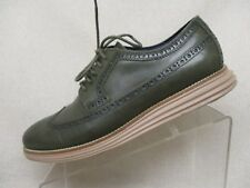 Cole Haan Olive Leather Brogue Long Wing Lace Up Dress Shoes Boots Size 11 M