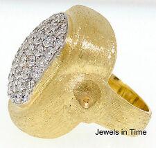 5.00 Carat Pave Diamond Ladies Ring in 18K Yellow Gold 6.25