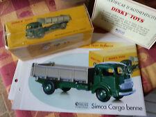 dinky atlas simca cargo benne 33b avec fiche et certificat