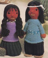 Crochet Pattern ~ Southwest Navajo Indian Dolls Stuffed Kids Toy ~ Instructions