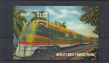 Tuvalu 2013 estampillada sin montar o nunca montada mundiales más famoso trenes 1v S/S Orange Blossom sellos especiales