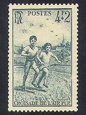 Francia 1945 campaña de aire fresco/salud/bienestar/niños/animación 1v (n36911)