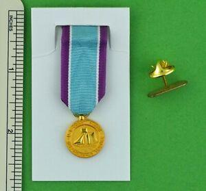 Coast Guard Distinguished Service Miniature Medal & Holder -USA made mini medal