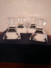 Mothers Day Badash Crystal 4 Piece Candlestick Set Clear Mouth blown