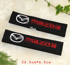 2pc Car Seat Belt Cover Shoulder Cushion Pad for All Mazda -M2 M 3 M5 M6 CX5 CX7