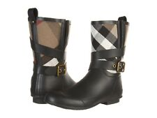 Burberry Women's Holloway Check Canvas/Rubber Short Boots Size 37