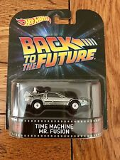 Hot Wheels Retro Entertainment BACK TO THE FUTURE Time Machine Mr. Fusion BTTF